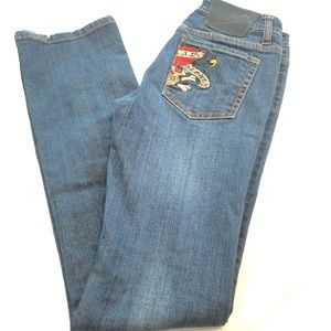 Ed Hardy Love Kills Slowly Bootcut Jeans Embroider